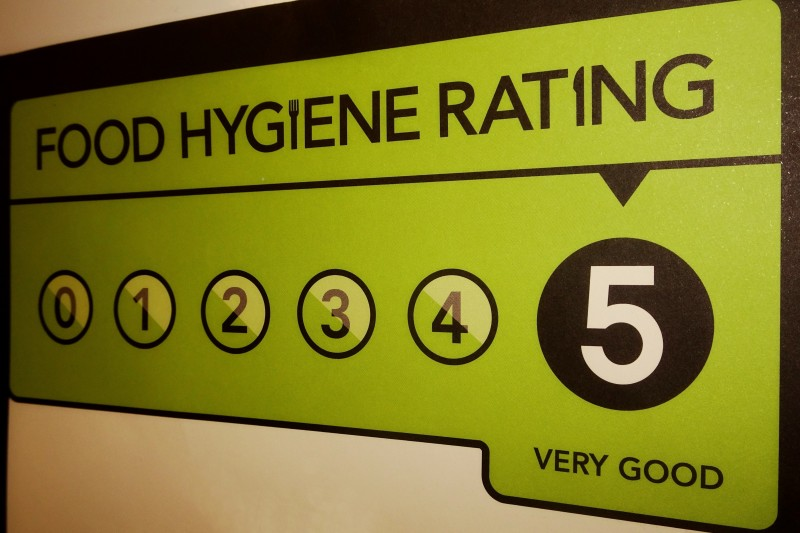 Mandatory display of food hygiene ratings in England