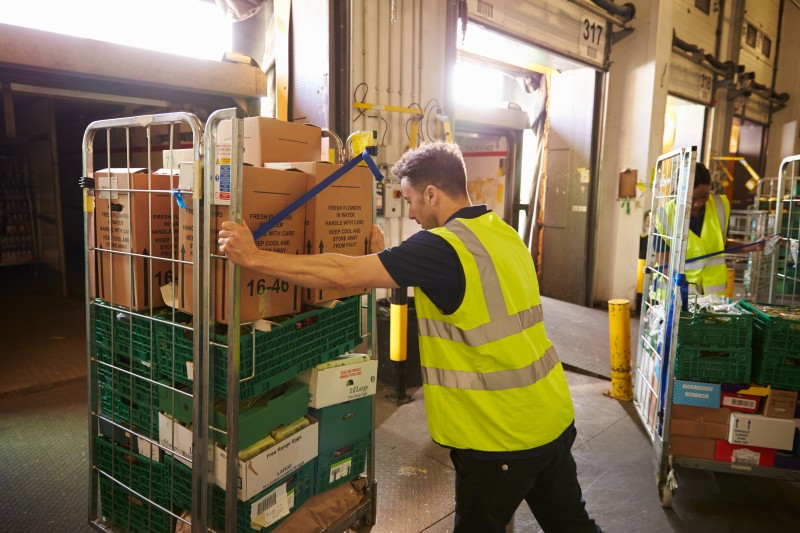Supermarket worker crushed by roll cage